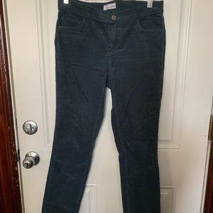 LOFT Straight Cut Blue Stretch Corduroy Size 27